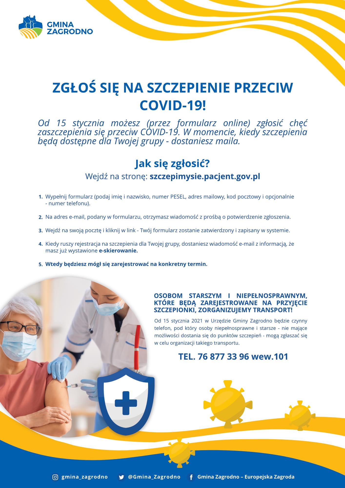 Plakat dotyczący szczepienia