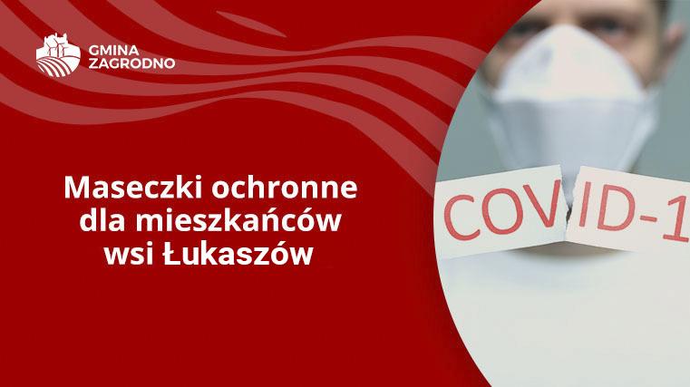 Maseczki ochronne dla mieszkańców wsi Łukaszów