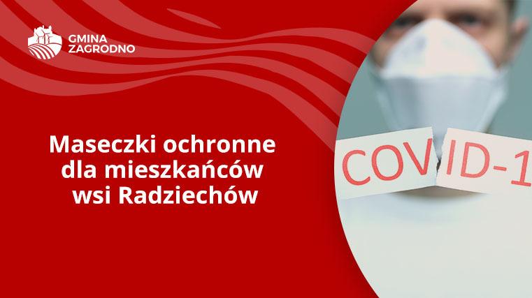 maseczki ochronne dla mieszkańców wsi radziechów
