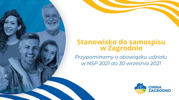 Stanowisko do samospisu w Zagrodnie. Przypominamy o obowiązku udziału w NSP 2021 do 30 września 2021