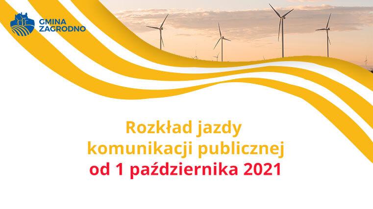 Rozkład jazdy komunikacji publicznej od 1 października 2021